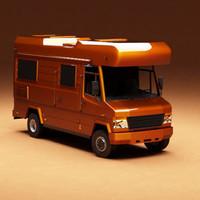 3d camper camp model