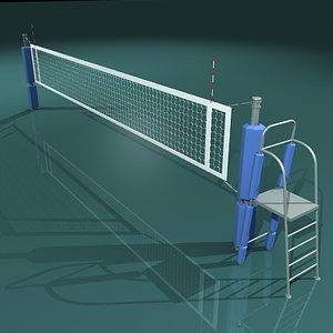 3d volleyball net model