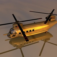 ch-47 helicopter chinook c4d