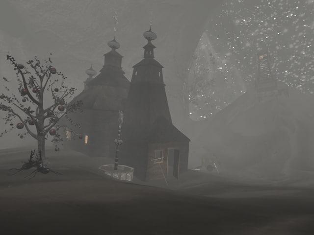 3d scene church
