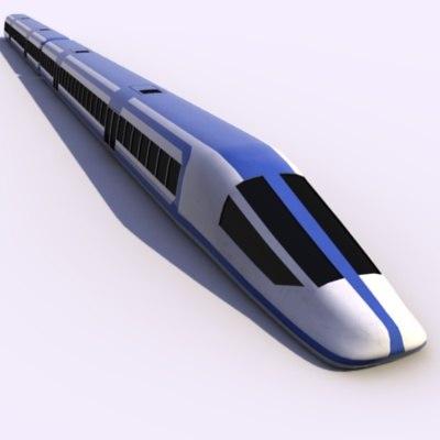 blender futuristic train passenger