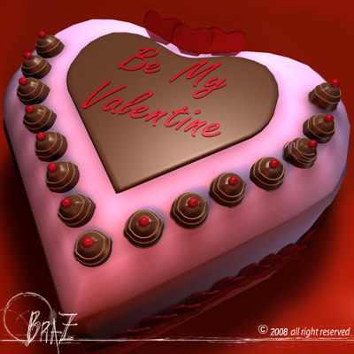 Valentine cakes 3d 3ds for Valentine cake recipes with pictures