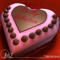 valentine cakes 3d 3ds