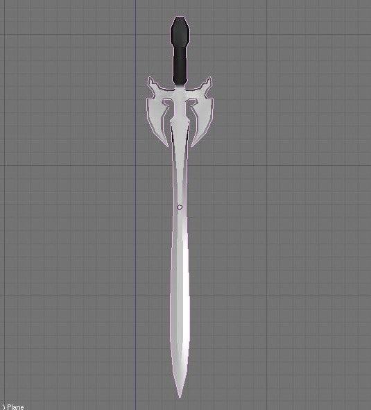 3d fantasy sword darkness