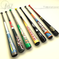 Baseball bats collection