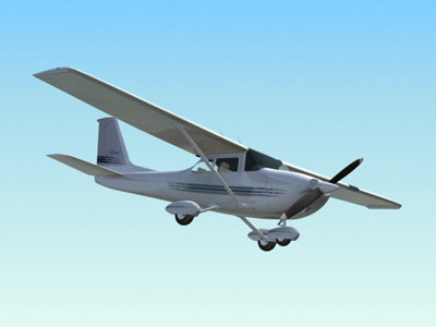 private airplane 3d model