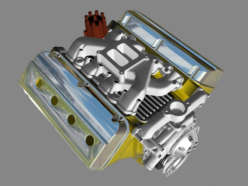 early hemi v8 engine 3ds