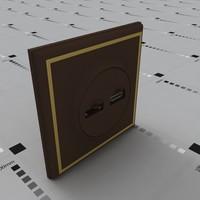 plugs sockets connectors switch 3d model