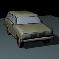 car caravan 3d model