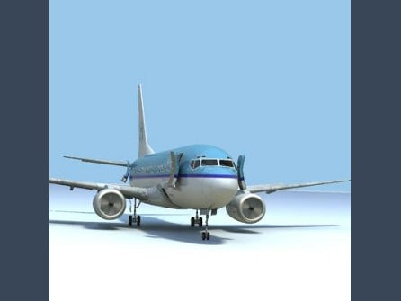 3d model 737-700 klm w interior