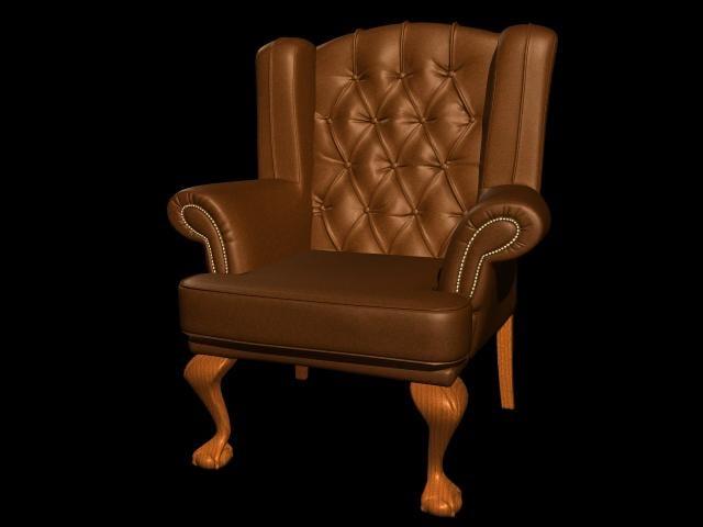 maya leather arm chair