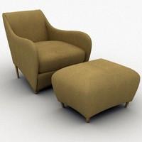 balzac foot rest 3d model