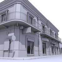 3d model of building architectural