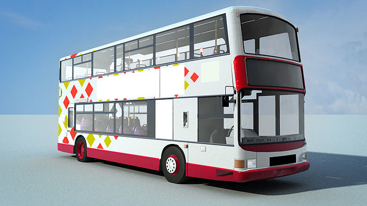 double decker bus 3d c4d
