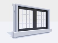 3ds casement window