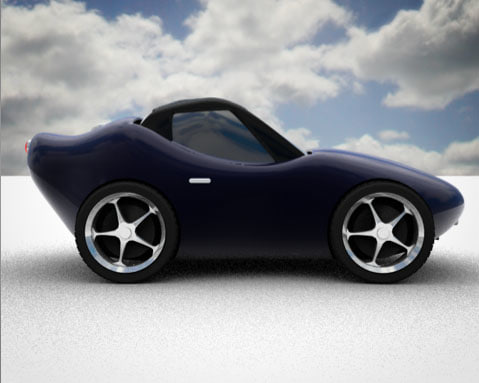 c4d cartoon car