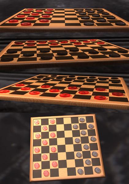 3d checkers set