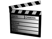movie clapperboard 3d model