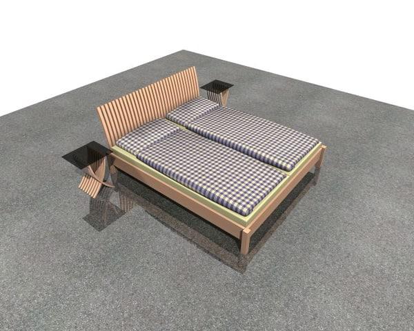 double bed ikea 3d model
