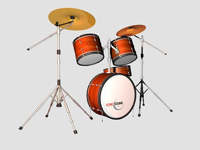 drums kit 3d obj