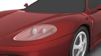 farrari sport cars 3d model