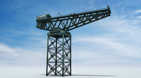 3d finnieston crane model