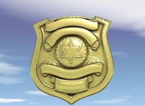 3d police badge
