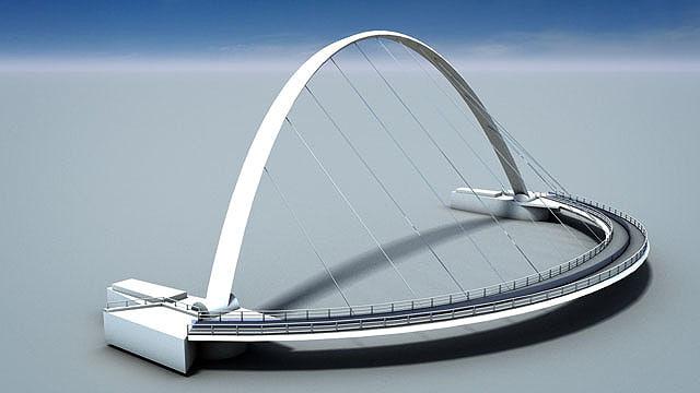 millennium bridge 3d model