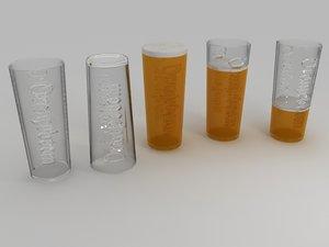 3d max oranjeboom beer glass materials
