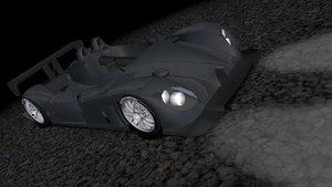 3dsmax sports racing car lmp2