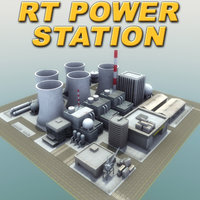 industrial powerstation rt 3d model