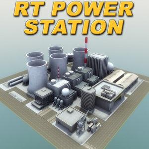 industrial powerstation rt 3d model