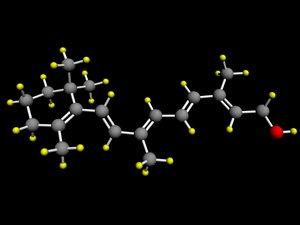 3d retinol vitamin model
