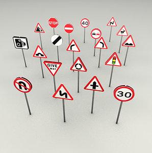 c4d uk road signs