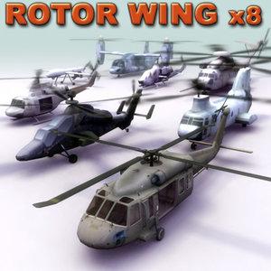 helicopter uh60 blackhawk huey 3d model