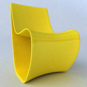3d sign chair