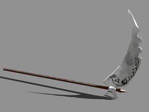 sword cutting 3d model