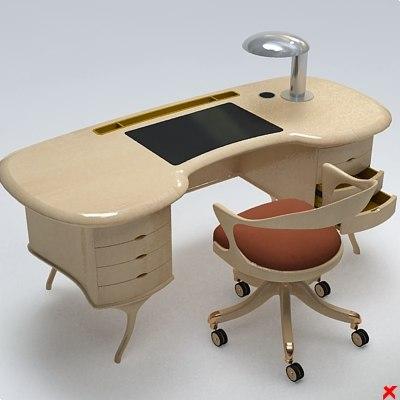 3d desk writing