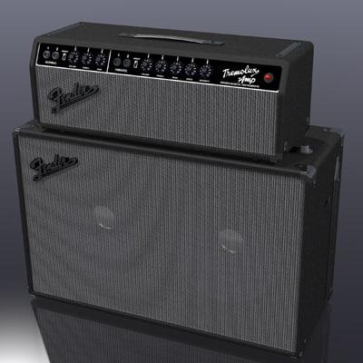 3d guitar amp model