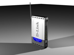 d-link wireless router 3d model