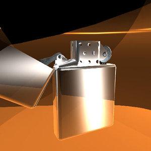 free zippo lighter 3d model