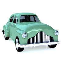3d vintage toy car model