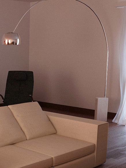 3d model arcolamp arco lamp
