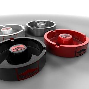 3d ashtrays model
