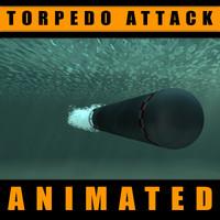 c4d torpedo water turbulent