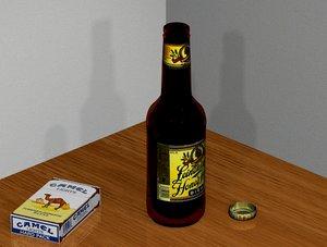 3ds max leinenkugel beer bottle cigarettes