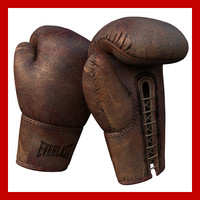 3ds max old vintage antique boxing gloves