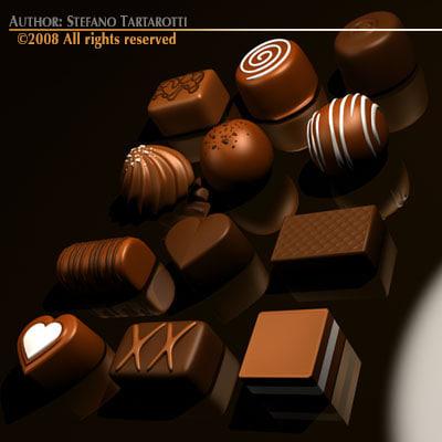 3d model chocolate chocolat