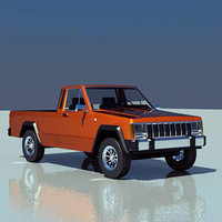 3d model car pickup truck