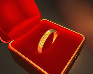 3d c4d wedding ring box
